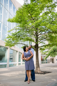 Sherrelle and Brandon's Dallas engagement session. Dallas engagement photography in downtown Dallas at the Arts District and Klyde Warren Park. Dallas wedding photographer, Monica Salazar - http://www.monica-salazar.com