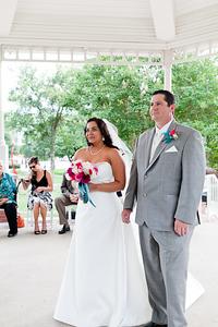 Plano wedding photography with outdoor wedding Haggard Park in Plano, TX.