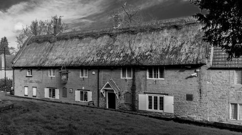 The Wheatsheaf (from the church), Dallington, Northants