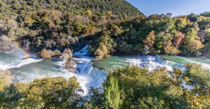 Skradinski buk waterfall complex. Krka National Park, Croatia.