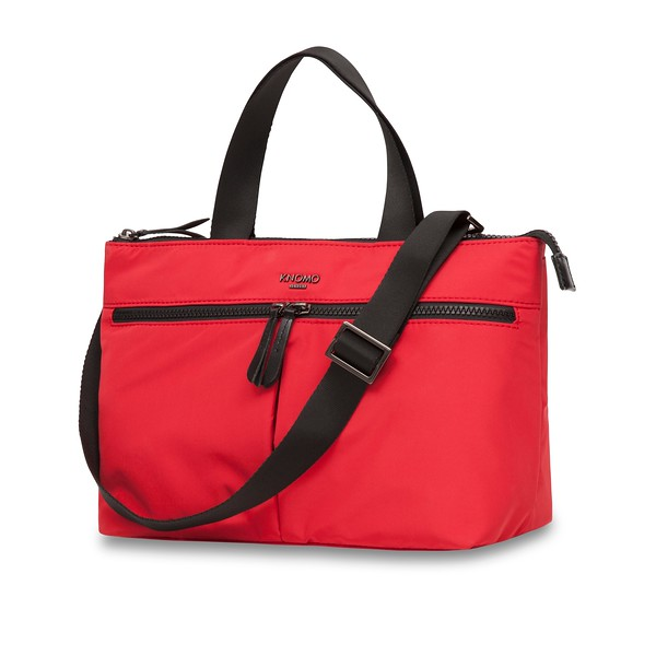 Dalston; Antwerp; Cross Body; 10''; 129-202-RED; Three Quarter with Strap