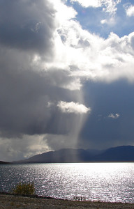 9/2/07 - Driving back toward home along the sinuous shoreline of Summit Lake, the virga from these clouds presented an irresistible image.