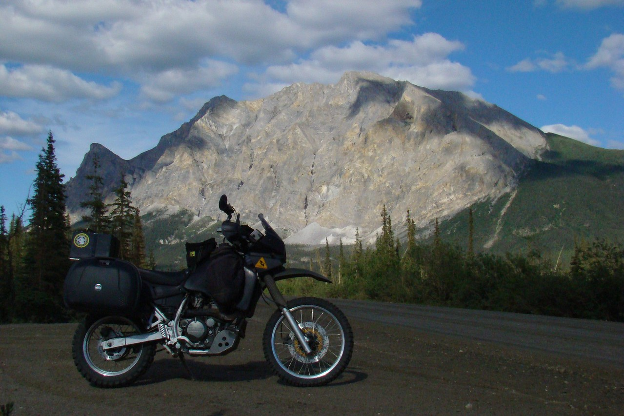 Sukakpak Mt with an unusually clean KLR650 in the foreground