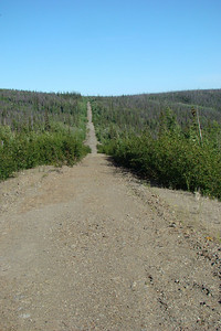 This is the old, abandoned highway.  Fun on a dualsport, but when you ride it, it's obvious why they by-passed it.