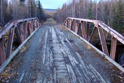 9/21/08  7:49PM - Old bridge over the Tatalina River, used long before the Dalton Hwy was even thought of, when the Elliott Hwy was the primary connection with Livengood, Minto, and Manley Hot Springs.