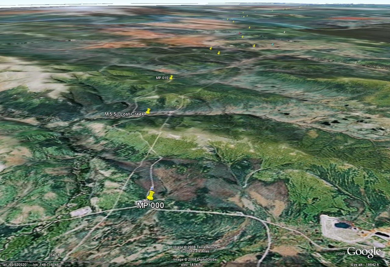 Another Google Earth view, this one giving a hint of the irregular topography.