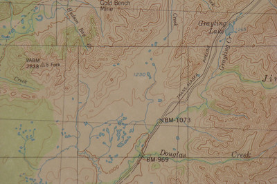 Topo map of the area.  Grayling Lake is at about Mile 151