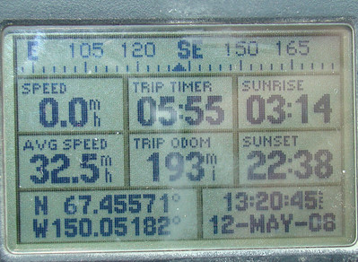MP190 N67.45571, W150.05182, Elevation: