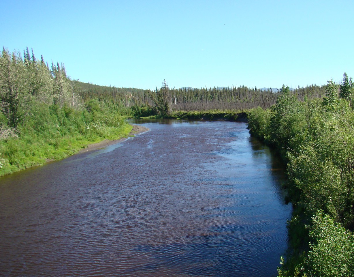 Hess Creek, looking upstream from the bridge.