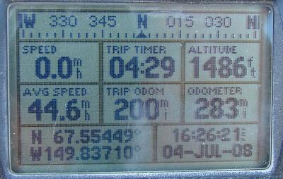MP 200: N67.55449, W149.83710, Elev: 1486'