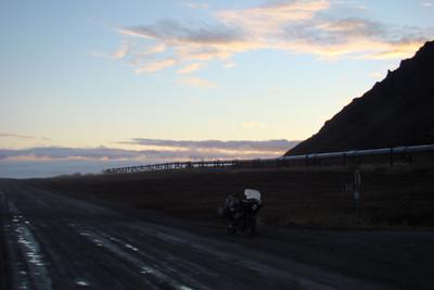 June 6, 2007 1:26 AM ADT:  Mile 273.2 along the Trans-Alaska Pipeline