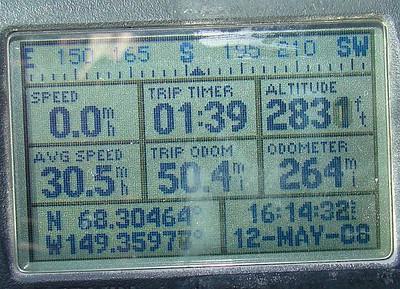 MP260  N68.30464, W149.35977, Elevation:  2831'