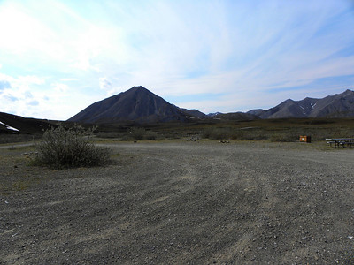 Looking back at the road to the campground.