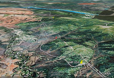 Again, Google Earth can only give a hint of what the terrain looks like, but is worth checking out prior to a trip up this highway.