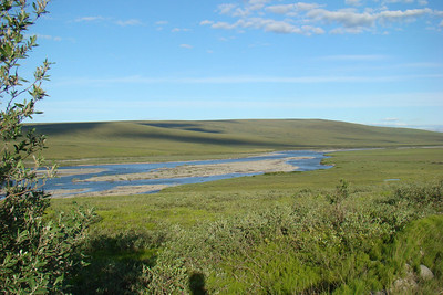 7/4/08 9:25 PM - The Sagavanirktok (Sag) River near Mile 313, across the highway from Pump Station 3.