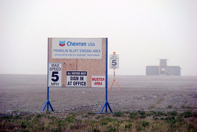 At Mile 377, Chevron USA has a yard on the east side of the highway.  Edit 5/15/10: This has since been moved, and this area is now an empty pad.