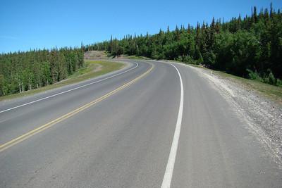 At MP40 facing north, uphill.