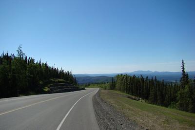 At MP40 facing south, downhill.