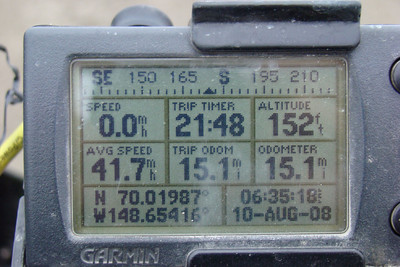 GPS at MP400.  Note:  This is on the southbound leg, hence 15.1 miles from the Tee at Colleen Lake.