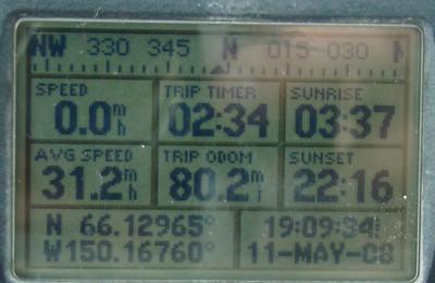 MP80: N66.12965, W150.16760, Elevation: