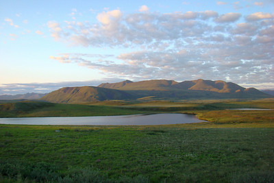 7/5/08 2:45 AM - At around Mile 303 on the north side of the Brooks Range, the early morning sun provides nice illumination across the tundra and low foothills.