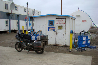 6/6/08 8:15 PM - NANA fuel station, Chevron products.  Fueling up before heading back south to breakfast in Fairbanks.
