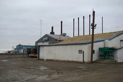 This is the diesel-fired power plant where fuel is converted to electricity for the Deadhorse complex.