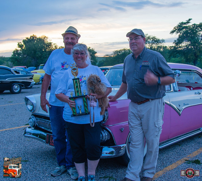 """Camper's Choice"" Award - Robert and Dianna Meeker, Rapid City, SD ~ 1955 Ford Victoria"