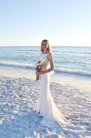 Beautiful beach wedding at Anna Maria Island, FL