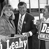 Leahy with, from left, Phjilip, and Nancy Donahue. SUN FILE PHOTO
