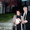 Gloria and Dan Leahy arrive at the home of Joseph Donahue for a 1999 party to benefit the Lowell Association for the Blind. SUN FILE PHOTO