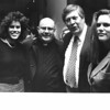 Leahy, second from right, at a fundraiser with, from left, Kathy Ramirez, the Rev.. Richard Albert, from Jamaica, and Lynda Leahy. SUN FILE PHOTO