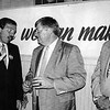 Leahy with Frank Gorman, left, and Buddy Flynn, on election night 1992. SUN FILE PHOTO