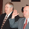 Dan Leahy and Armand Mercier are sworn in as city councilors in January 1998. SUN FILE PHOTO