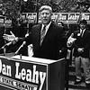 Leahy announce his Senate run. At right is his son, John Leahy, now a Lowell city councilor. SUN FILE PHOTO