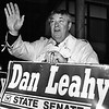 Leahy greets voters at the Reilly School on election day 1992. SUN FILE PHOTO
