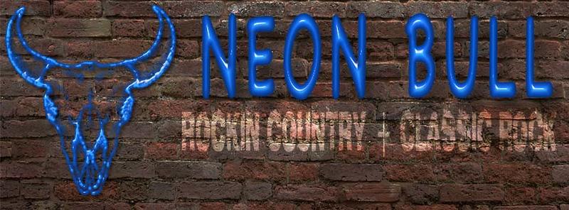 Blue Neon Bull timeline banner