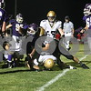 Date: 9/28/2007<br /> Location:  Rochelle, Illinois<br /> <br /> Caption:  Chronicle photo ERIC SUMBERG <br /> <br /> Summary:  Sycamore Spartans defeat the Rochelle Hubs 9-6 at Rochelle in football.