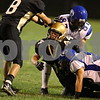 Date: 9/21/2007<br /> Location:  Sycamore, Illinois<br /> <br /> Caption:  Chronicle photo ERIC SUMBERG <br /> <br /> Summary:  Sycamore Spartans take on the Geneva Vikings in high school football.  Genoa-Kingston the Cogs take on the Winnebago Indians.