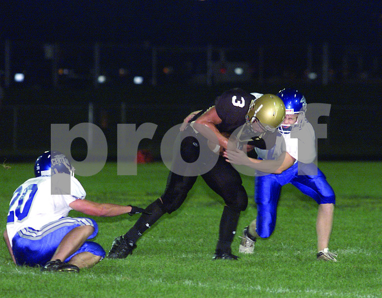 Chronicle photo HOLLY LUNDH<br /> Sycamore ball carrier 3