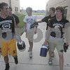 Date: 8/8/2007<br /> Location:  Sycamore, Illinois<br /> <br /> Caption:   Chronicle photo ERIC SUMBERG<br /> <br /> Summary:   First practice of the season for the Sycamore Spartans football team.