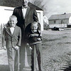 Dan Yaden, Sr. (left) - 1961 - Age 7 - With brother Mark (age 5) and Dad (Dave, age 40) - Yakima, WA