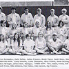 Dan Yaden, Sr. [back row, 3rd from right] - 1971 (Spring) - Age 17 - With coach (and mother) Betty Yaden [standing far left] - Selah High School Tennis Team - Selah, WA - From 1971 Fruitspur Yearbook