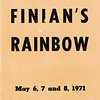 "Dan Yaden, Sr. - 1971 (May) - Age 17 - Program cover for ""Finian's Rainbow"" - Dan played the role of Og the Leprechaun - Selah High School - Selah, WA"