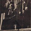 """Dan Yaden, Sr. (far right) - 1973 (Jan) - Age 18 - As the Valet in """"No Exit"""" - Kendall Hall Auditorium - Yakima Valley College - Yakima, WA"""