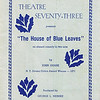 """Dan Yaden, Sr. - 1973 (Feb) - Age 18 - Program cover for """"The House of Blue Leaves"""" - Dan played the role of Ronnie Shaughnessy - Kendall Hall Auditorium - Yakima Valley College - Yakima, WA"""