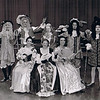 """Dan Yaden, Sr. (back row, center) - 1973 (April) - Age 19 - As Harpagon in """"The Miser"""" - Promotional photo - Kendall Hall Auditorium - Yakima Valley College - Yakima, WA"""