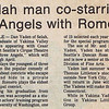 "Dan Yaden, Sr. - 1976 (March) - Age 22 - As Alfred in ""My Three Angels"" starring Cesar Romero - Article from a March edition of the Selah Valley Optimist - Selah, WA"