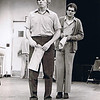 "Dan Yaden, Sr (left) - 1976 (April) - Age 22 - As Billy Bibbit in ""One Flew Over The Cuckoo's Nest"" - With Richard Farrell as Dale Harding  - Glenn Hughes Playhouse - University of Washington - Seattle, WA"