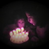 Dan Yaden, Jr. - 1981 (March 18) - Age 2 - With Mom (Julie) on her 27th birthday - Queen Avenue Home - Yakima, WA (Captured from 8mm film)